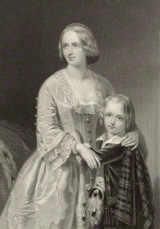 Elizabeth Campbell, Duchess of Argyll - The Duchess of Argyll with her eldest son, John