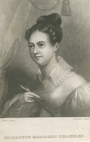 Elizabeth Margaret Chandler - Elizabeth Margaret Chandler, The Poetical Works (pub. 1836) - frontispiece