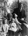 Elliot Marple, Martha Marple, Catharine Marple, Warren Marple, Lucius Marple (left-right), October 1910 (PORTRAITS 2563).jpg