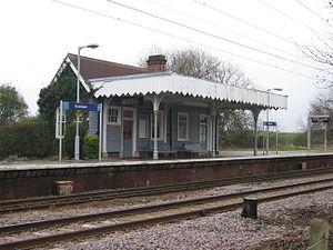 Elsenham railway station - The waiting room on the southbound platform