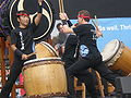 Emeryville Taiko performing at 2008 SFIDBF 10.JPG
