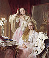 Emma and Federica Bankes of Soughton Hall, by Henry Tanworth Wells.jpg