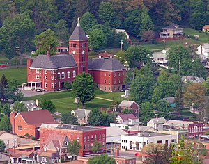Emporium, Pennsylvania - Emporium and the Cameron County Courthouse from the Whitmore Road vista