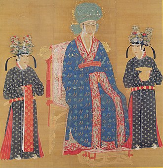 Empress Cao (Song dynasty) - Empress Cao in the middle, with assistants