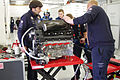 Engine of Aston Martin Racing's Aston Martin Vantage V8 (8668725982).jpg