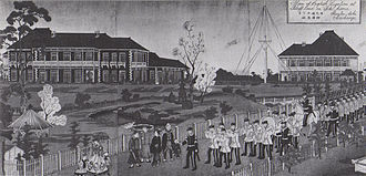 Ernest Mason Satow - The British Legation Yamate, Yokohama, 1865 painting