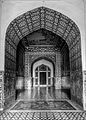 Entrance to the grave of King Jahangir (B&W View).jpg