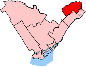 Glengarry—Prescott—Russell - Glengarry—Prescott—Russell in relation to other Ontario electoral districts (2003 boundaries)