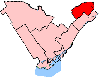 Glengarry—Prescott—Russell (provincial electoral district) - Glengarry—Prescott—Russell in relation to other eastern Ontario electoral districts