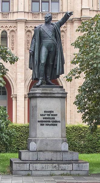 Bernhard Erasmus von Deroy - Statue of Deroy at the Maximilianstraße in Munich by Johann Halbig