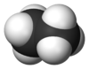 Spacefill model o ethane