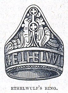 Ethelwulf's Ring - Illustration from Cassell's History of England - Century Edition - published circa 1902.jpg