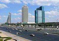 Башня Etisalat 2, Всемирный торговый центр Дубая и резиденция Всемирного торгового центра Дубая, 28 декабря 2007 года. Jpg