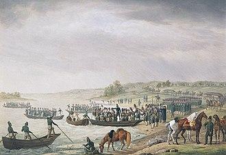 Albrecht Adam - Image: Eugene Beauharnais Crossing Niemen 1812