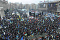 Euromaidan panoramic view taken from the top of the Revolution Christmas tree. December 8, 2013-2.jpg