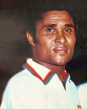 Eusébio - Eusébio as Portugal's captain against Argentina