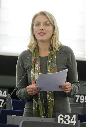 Evelyn Regner - Image: Evelyn Regner im Plenum Straßburg