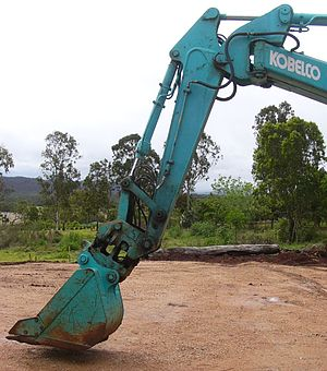 Backhoe - Kobelco Excavator in shovel configuration