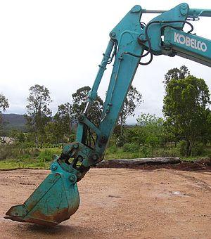 Backhoe - Kobelco Excavator in shovel configuration