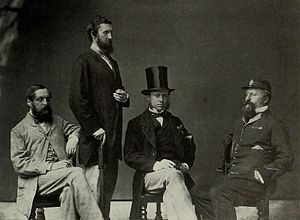 Edmund Haythorne - Col. Haythorne (far right) as Captain Superintendent of Police in Hong Kong, 1860