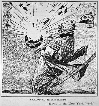"Zimmermann Telegram - ""Exploding in his Hands"""