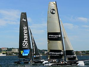 Extreme 40 - Extreme 40 catamarans at the 2008 iShares Cup in Kiel.