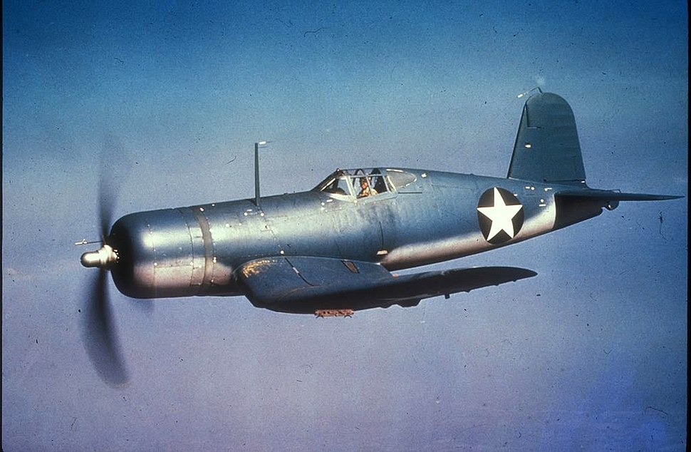 F4U-1 Corsair in flight c1942