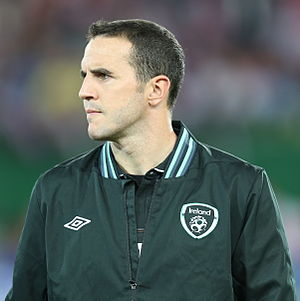 John O'Shea - O'Shea lining up for the Republic of Ireland in September 2013