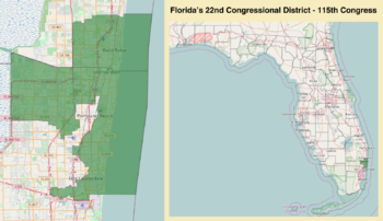 Mexico Beach Florida Map.Florida S 22nd Congressional District Wikipedia