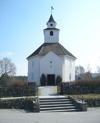 Hornnes - View of the local church, Hornnes Church
