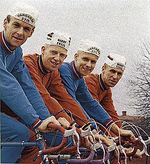 Erik Pettersson (cyclist) - The Fåglum brothers 1967. Erik is second from the left.