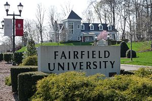 Fairfield University - Main Entrance and Alumni House