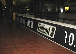 "Fallout 3 - ""Prepare for the Future"" promotional campaign at the Metro Center station in Washington, D.C."