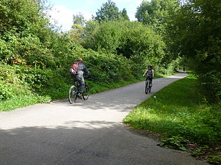 Fallowfield Loop Off-road cycle path, pedestrian and horse riding route in the south of Manchester, England