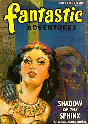 "William Hamling (publisher) - Hamling's ""Shadow of the Sphinx"" was illustrated by J. Allen St. John"