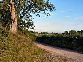 Farm road between Llandow and Clemenstone - geograph.org.uk - 913972.jpg