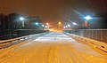 February 2013 nor'easter on Walden, NY, High Bridge at night.jpg