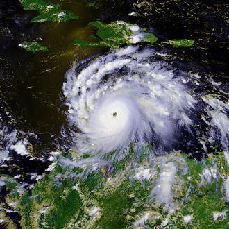Hurricane Felix - Hurricane Felix rapidly intensifying south of Hispaniola on September 2