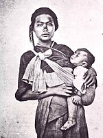Taiwanese aborigine woman and infant, by John Thomson, 1871