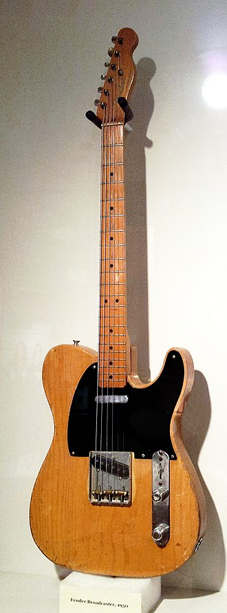 Fender Telecaster - Image: Fender Broadcaster (1950), Museum of Making Music