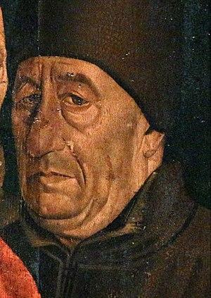Fernão Lopes - Supposed portrait of Fernão Lopes, from the Nuno Gonçalves' São Vicente de Fora Panels.