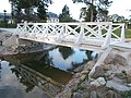 Festetics Palace English landscape park, bridge over pond, Keszthely, 2016 Hungary.jpg