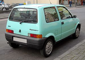 Fiat Cinquecento - Rear view