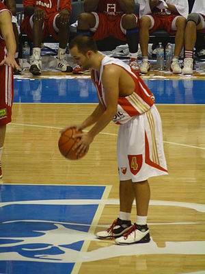 Filip Čović - Čović playing for Crvena zvezda in October 2011.
