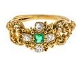 Fingerring av guld med smaragd och briljanter, 1830-tal - Hallwylska museet - 110178.tif