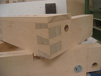 Dovetail joint - A finished dovetail joint.