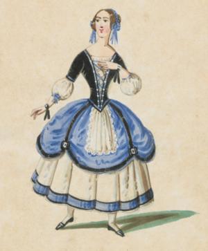 Don Checco - Fiorina's costume from an 1853 production at the Teatro del Fondo