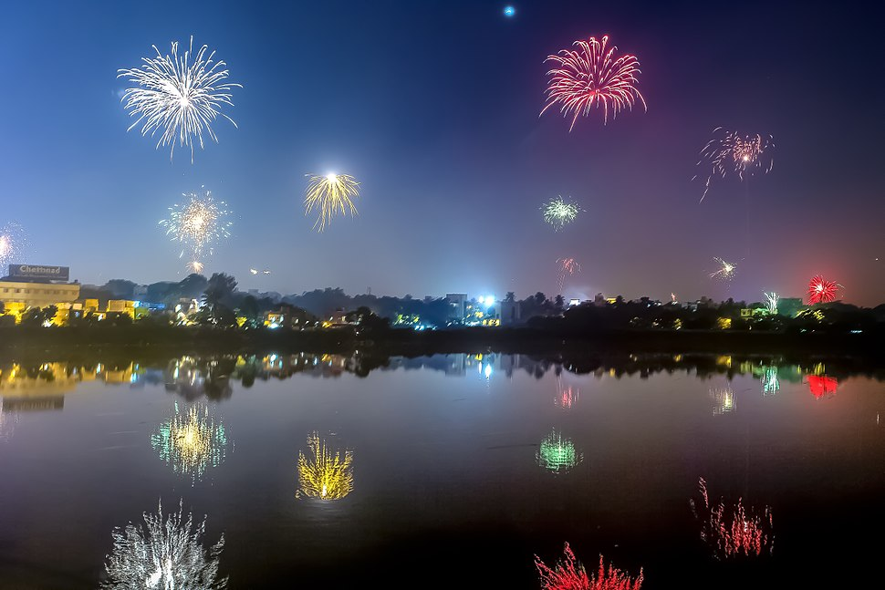 Fireworks Diwali Chennai India November 2013 b
