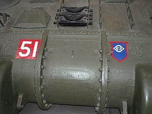 Guards Armoured Division - The Guards Armoured Division vehicle insignia, on a Sherman Firefly preserved at the Bovington Tank Museum.