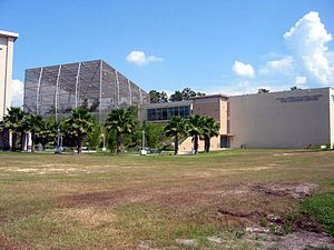 Florida Museum of Natural History - The outside of the McGuire Center for Biodiversity and Lepodoptra.